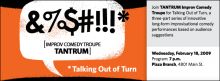TANTRUM: Talking Out of Turn