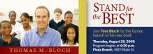 The Kansas City Public Library hosts the national launch of Tom Bloch's new book, Stand for the Best