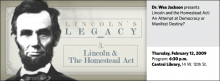 Wes Jackson: Lincoln and the Homestead Act