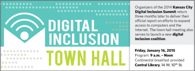 Organizers of the 2014 Kansas City Digital Inclusion Summit return three months later to deliver their official report on efforts to expand access to computers and the Internet. The town hall meeting also serves to launch a new digital inclusion coalition.