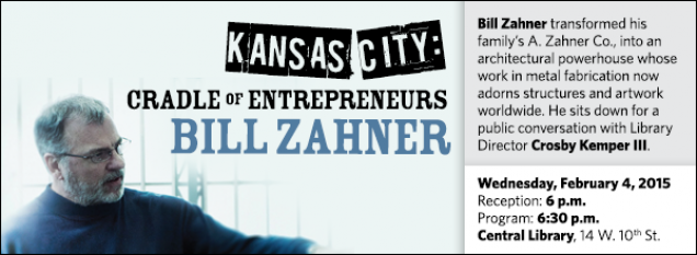 Bill Zahner transformed his family's A. Zahner Co., into an architectural powerhouse whose work in metal fabrication now adorns structures and artwork worldwide. He sits down for a public conversation with Library Director Crosby Kemper III.