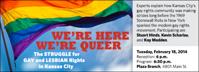 Experts explain how Kansas City's gay rights community was making strides long before the 1969 Stonewall Riots in New York sparked the modern gay rights movement. Participating are Stuart Hinds, Kevin Scharlau, and Kay Madden.