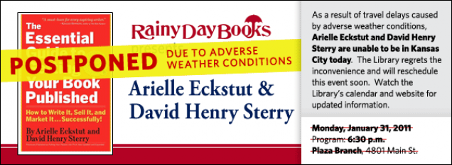 As a result of travel delays caused by adverse weather conditions, Arielle Eckstut and David Henry Sterry are unable to be in Kansas City today.  The Library regrets the inconvenience and will reschedule this event soon.  Watch the Library's calendar and website for updated information.
