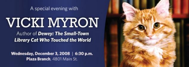 Vicki Myron discusses her best-selling book, Dewey: The Small-Town Library Cat Who Touched the World