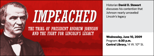 Historian David O. Stewart discusses his contention that Johnson nearly unraveled  Lincoln's legacy