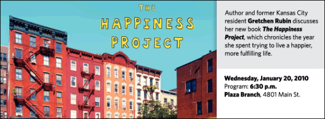 Author and former Kansas City resident Gretchen Rubin discusses her new book The Happiness Project, which chronicles the year she spent trying to live a happier, more fulfilling life.