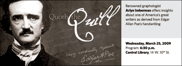 Quoth the Quill: The Handwriting Analysis of Edgar Allan Poe