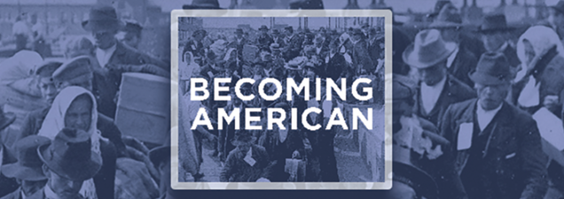 """The Library continues its examination of immigration in America with a screening and discussion of """"The Golden Door,"""" the opening episode of the documentary series Destination America. It underscores the important role that immigrant labor played in the building of our country – and the contentiousness it wrought among American workers. UMKC historian Sandra Enriquez leads the subsequent discussion."""