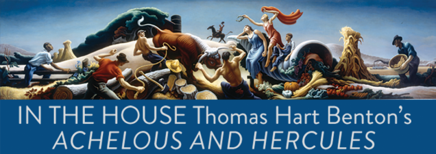 """Henry Adams, one of the country's preeminent authorities on Thomas Hart Benton, looks at the history of Benton's bold, 22-foot-long mural """"Achelous and Hercules,"""" which once adorned Kansas City's downtown Harzfeld's Department Store. A full-size reproduction now hangs in the Central Library."""