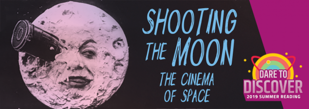 What does film tell us about our fascination with and perception of the moon? University of Missouri-Kansas City film studies professor Mitch Brian explores the question, walking through Hollywood's depiction of space flight and lunar landings using clips from silent movies, blockbuster classics, and documentaries. His presentation is part of the Library's 2019 Summer Reading Program: Dare to Discover.