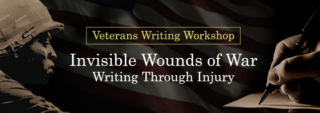 The Veterans Writing Workshop opens with a public presentation featuring Iraq War veteran, author, and poet Brian Turner; Rita Brock, senior vice president of moral injury programs for Volunteers of America; and George Dent, a trauma/PTSD psychologist. They discuss PTSD and other traumas and how creative arts, including writing, can further recovery.