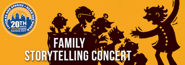 The 20th Annual Kansas City Storytelling Celebration opens with a Friday Night Family Fun storytelling concert at 6:30 p.m., followed by a ghost-tales session at 7. There's also music by Branson folklorists Mike and Nancee Micham. For ages 8 and up.
